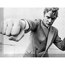 Buy Getty Image Gallery Michael Caine Attitude Print on Canvas, 30 x 40cm Online at johnlewis.com
