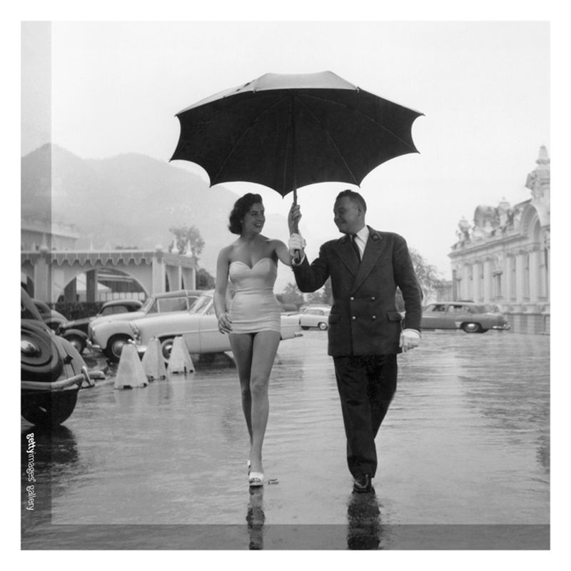 Getty Images Gallery Getty Image Gallery Monte Carlo Rain Print on Canvas, 40 x 40cm