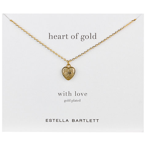 Buy Estella Bartlett Heart Locket Necklace Online at johnlewis.com