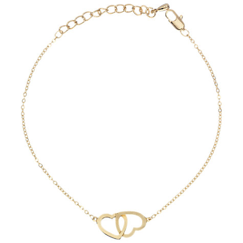 Buy Estella Bartlett Gold Double Heart Bracelet Online at johnlewis.com
