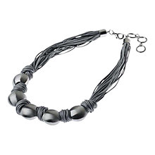 Buy Adele Marie Silver Plated Pebble and Cord Necklace Online at johnlewis.com