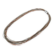 Buy Adele Marie Multi Row Wire Necklace, Gold Online at johnlewis.com
