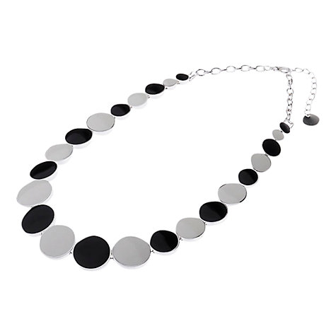 Buy Adele Marie Enamel Circle Necklace, Black / White Online at johnlewis.com