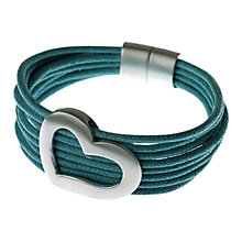 Buy Adele Marie Silver Fabric Multi Chain Heart Bracelet, Turquoise Online at johnlewis.com