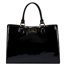 Buy Lulu Guinness Large Amelia Tote Handbag, Black Online at johnlewis.com
