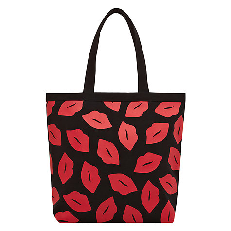 Buy Lulu Guinness Lily Lip Print Tote, Black Online at johnlewis.com