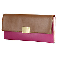 Buy Lauren by Ralph Lauren Clutch Handbag, Pink/Brown Online at johnlewis.com