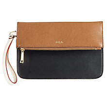 Buy Lauren by Ralph Lauren Fold Over Leather Wristlet Online at johnlewis.com