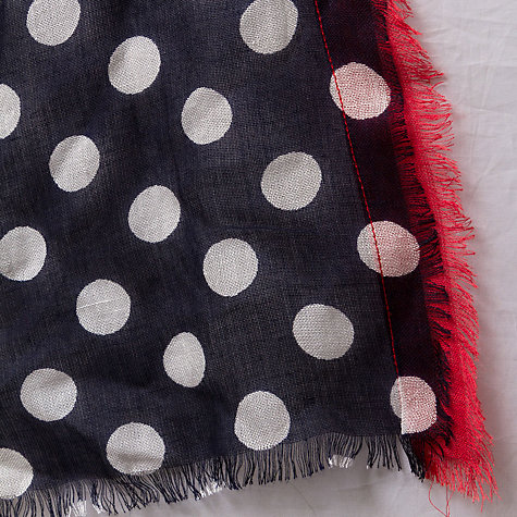 Buy East Contrasting Border Spot Scarf, Multi Online at johnlewis.com