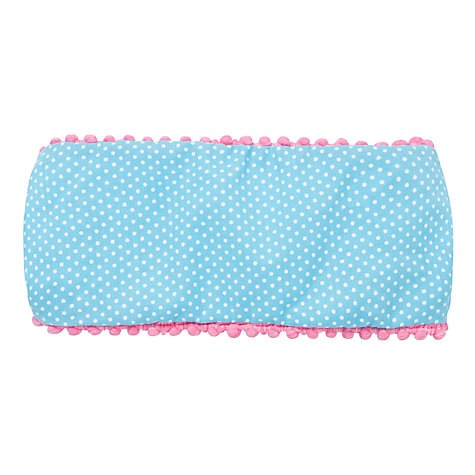 Buy John Lewis Girl Polka Dot Head Band, Blue/White Online at johnlewis.com