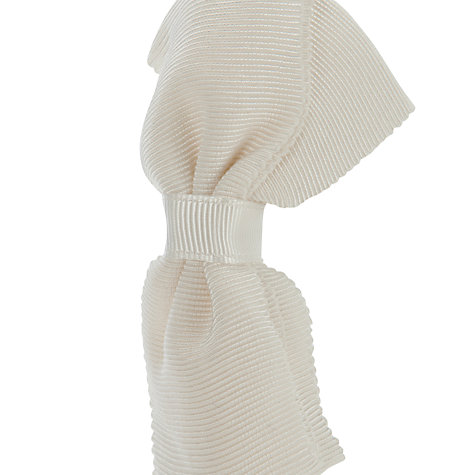 Buy John Lewis Girl Large Ribbon Bow Alice Band, Ivory Online at johnlewis.com