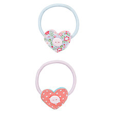 Buy John Lewis Girl Button Heart Hairbands, Multi Online at johnlewis.com