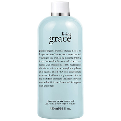 Buy Philosophy Living Grace Shampoo, Bath and Shower Gel, 480ml Online at johnlewis.com