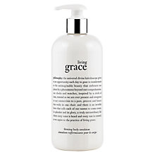 Buy Philosophy Living Grace Firming Body Emulsion, 480ml Online at johnlewis.com