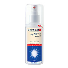 Buy Ultrasun Sports Sun Spray 50SPF, 150ml Online at johnlewis.com