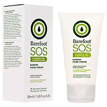 Buy Barefoot S.O.S. Safety Gloves Barrier Hand Cream, 50ml Online at johnlewis.com