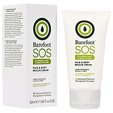 Buy Barefoot S.O.S. Face & Body Rescue Cream, 50ml Online at johnlewis.com