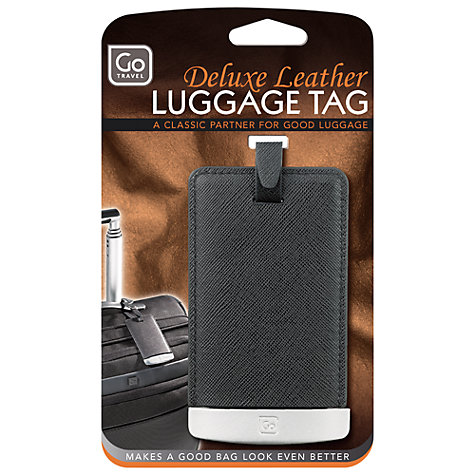 Buy Go Travel Deluxe Leather Travel Tag, Black Online at johnlewis.com