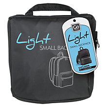 Buy Go Travel Foldaway Light Backpack, Grey Online at johnlewis.com