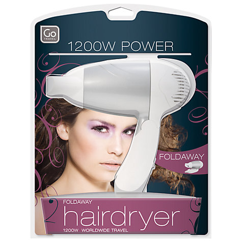 Buy Go Travel Mini 1200w Hair Dryer Online at johnlewis.com