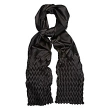 Buy Planet Zig Zag Pleated Scarf, Black Online at johnlewis.com