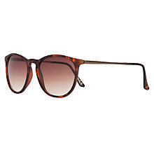 Buy John Lewis Women's Preppy Round Sunglasses, Tortoiseshell Online at johnlewis.com