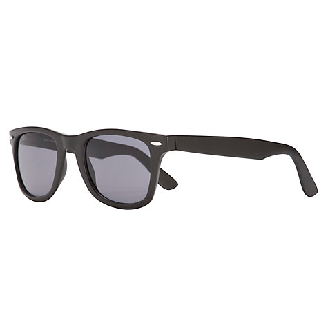 Buy John Lewis Men's D-Frame Plastic Sunglasses, Matt Black Online at johnlewis.com