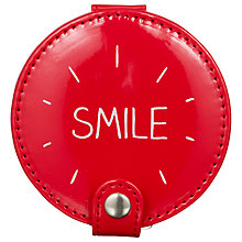 Buy Happy Jackson Compact Mirror, Red Online at johnlewis.com