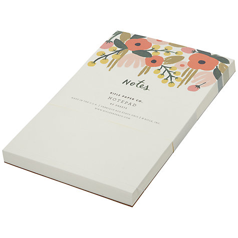 Buy Rifle Paper Co Floral Notepad Online at johnlewis.com