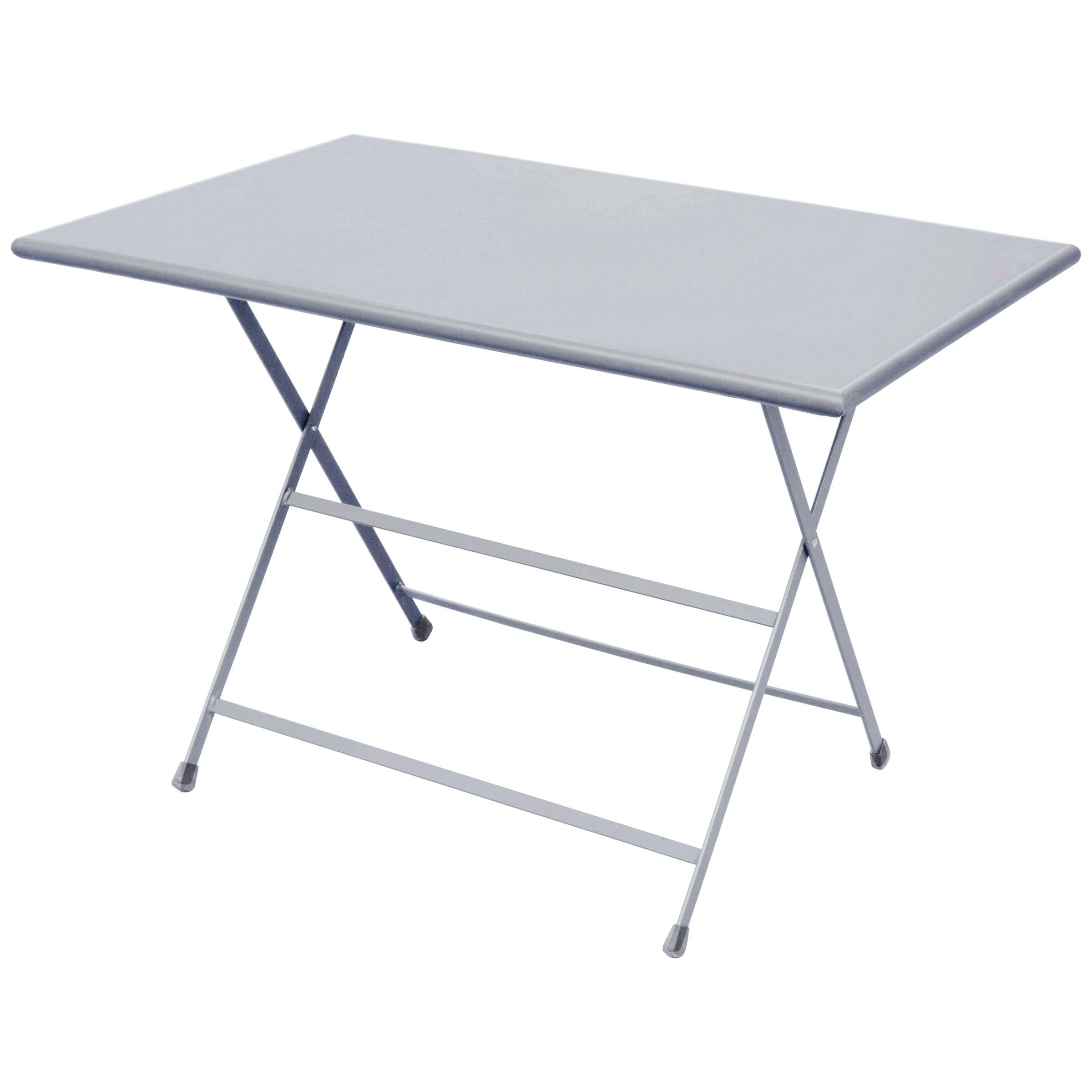 EMU Arc En Ciel Rectangular 4 Seater Outdoor Dining Table, Aluminium