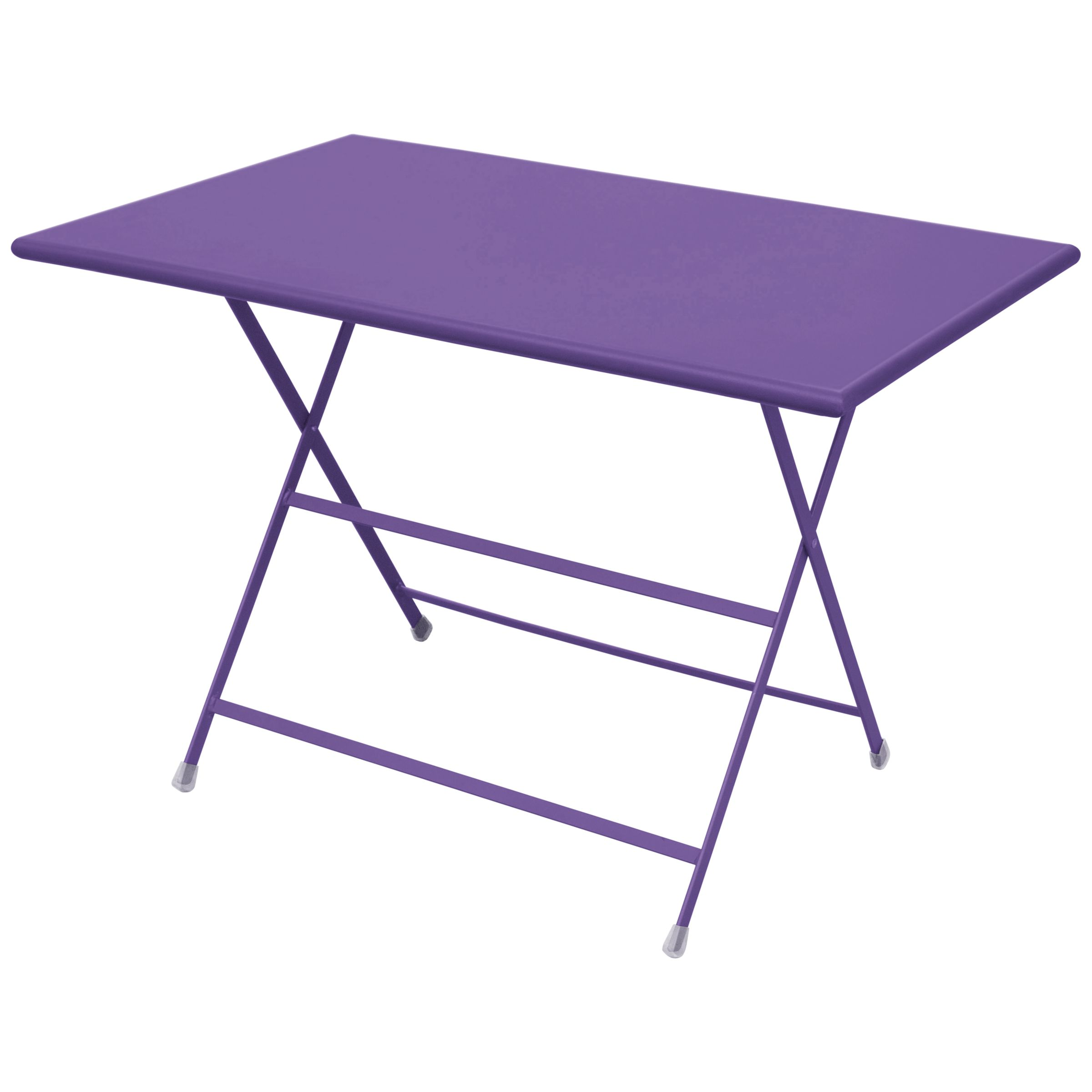 EMU Arc En Ciel Rectangular 4 Seater Outdoor Dining Table, Lilac
