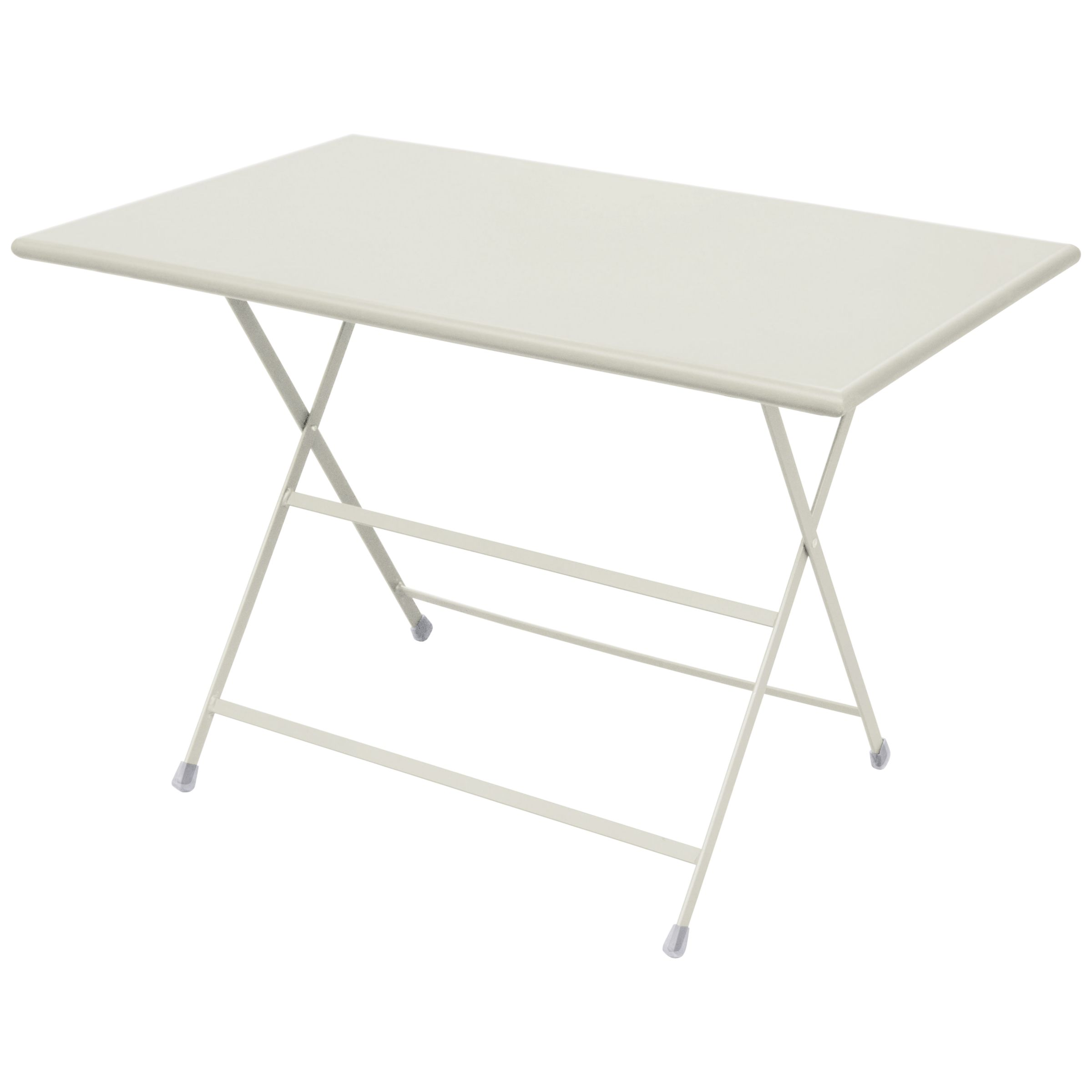 EMU Arc En Ciel Rectangular 4 Seater Outdoor Dining Table, Cream