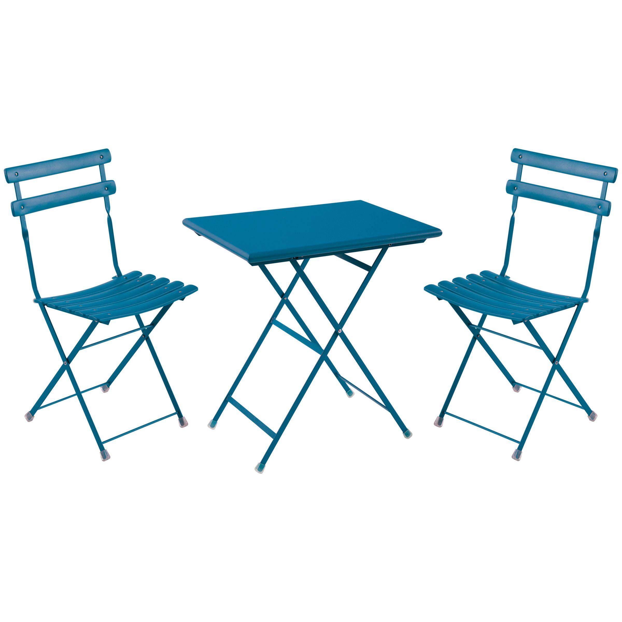 EMU Arc en Ciel 2 Seater Square Outdoor Furniture Set, Blue