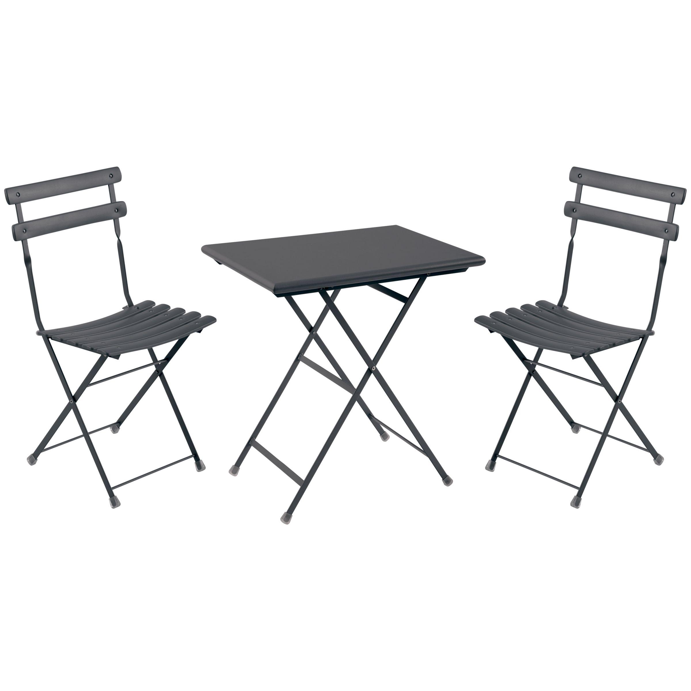 EMU Arc en Ciel 2 Seater Square Outdoor Furniture Set, Iron
