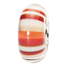 Buy Trollbeads Strawberry Stripe Glass Bead Online at johnlewis.com
