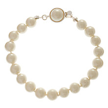 Buy Carolee Single Row Faux Pearl Bracelet, White Online at johnlewis.com