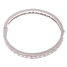 Buy Carolee Crystal Set Silver Toned Hinge Bangle Online at johnlewis.com