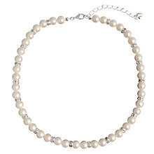 Buy Carolee Pearl & Crystal Rondelle Necklace, White Online at johnlewis.com