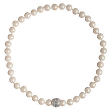 Buy Carolee White Pearl & Crystal Deco Clasp Necklace Online at johnlewis.com