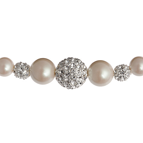 Buy Carolee Faux Pearl & Triple Glass Crystal Necklace Online at johnlewis.com