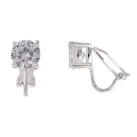 Buy Carolee Medium Sized Cubic Zirconia Clip-On Earrings Online at johnlewis.com