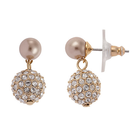 Buy Carolee Rose Gold Glass Crystal Encrusted Ball Drop Earrings Online at johnlewis.com