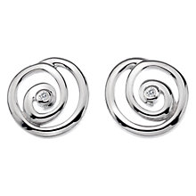 Buy Hot Diamonds Eternity Spiral Diamond Stud Earrings, Silver Online at johnlewis.com