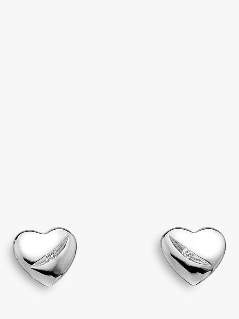 Hot Diamonds Micro Diamond Heart Stud Earrings, Silver