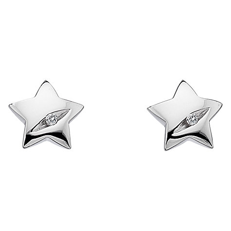 Buy Hot Diamonds Micro Diamond Star Stud Earrings, Silver Online at johnlewis.com