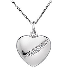 Buy Hot Diamonds Micro Diamond Heart Pendant, Silver Online at johnlewis.com