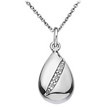 Buy Hot Diamonds Micro Diamond Teardrop Pendant, Silver Online at johnlewis.com