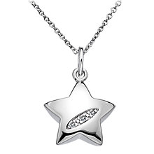 Buy Hot Diamonds Micro Diamond Star Pendant, Silver Online at johnlewis.com