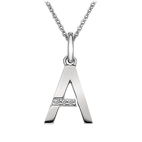 Buy Hot Diamonds Micro Silver Letters Diamond Pendant Online at johnlewis.com