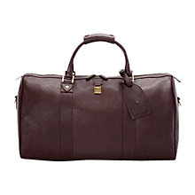 Buy Aspinal of London Boston Leather Travel Holdall Online at johnlewis.com